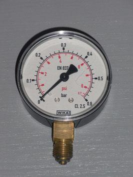 """Manometer 0 - 600mbar 1/4"""""""