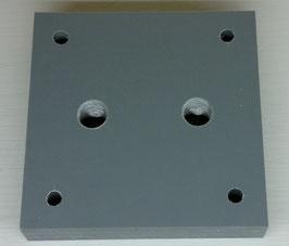 Behälterplatte 100 x 100mm, 2-loch