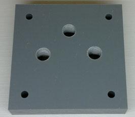 Behälterplatte 100 x 100mm, 3-loch