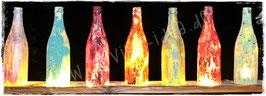 Krakel-Hängeflaschen für Teelichter