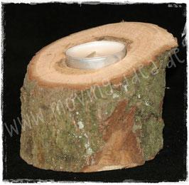 Holz-Kerzenständer für 1 Teelicht