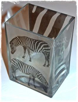 """Breit-Vase """"Zebra"""""""