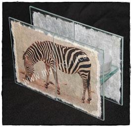 "Teelichthalter-Kombi ""Zebra"""