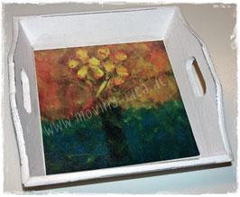 "Shabby Chic Tablett ""Blume III"""