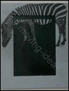 Afrika Serie: Zebra Rahmen-Bild