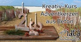 Kreativkurs Betonadventkerzen