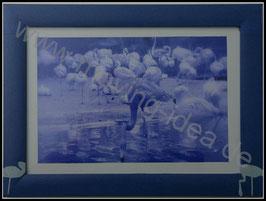 Afrika Serie: Flamingos in Blau I
