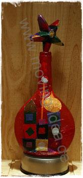 Dekoflasche Orient Rot