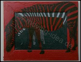 Afrika Serie: Zebra in rot