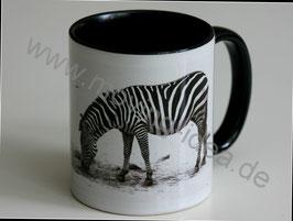 Tasse mit Foto: Zebra Schwarz Weiss