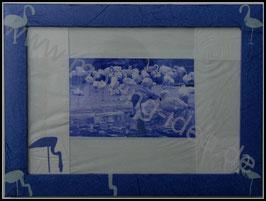 Afrika Serie: Flamingos in Blau II