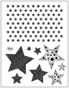 Silikonstempel Sterne