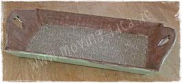 XXL Shabby Chic Tablett mit Spitzenpapier