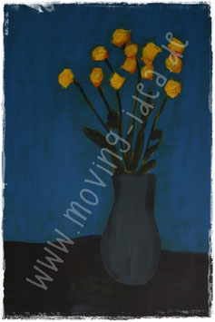 Blume IV in Blau