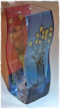 """Kleine Wellenvase """"Blume I & Blume IV"""""""
