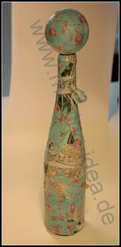 Dekoflasche japanische Blüte
