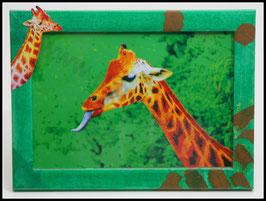 Afrika Serie: Giraffenzunge mit Giraffenrahmen