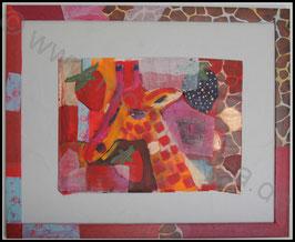 Malerei: Erdbeer Giraffe
