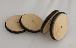 4195 Roues en bois avec pneu Ø = 60mm