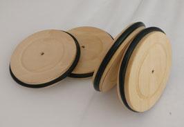 4192 Holzräder mit Bereifung Ø = 80mm (4 Stk.)