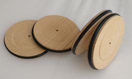 4200 Roues en bois avec pneu  Ø = 100mm