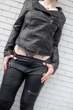 ECHT LEDER Jacke mit Nieten