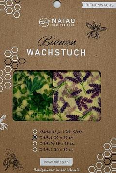 Bienenwachstuch Duopack Kräuter (S 20x20)