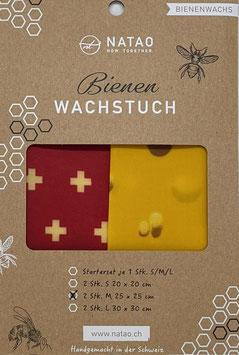 Bienenwachstuch Duopack M, SWISS-Edition 02