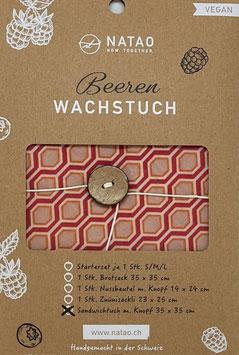 Beerenwachstuch, Waben (XL 35x35)