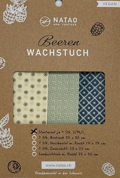 Beerenwachstuch Starterset Romben (S/M/L, 20x20/25x25/30x30)