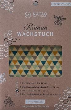 Bienenwachstuch Säckli, Dreieck (23x25)
