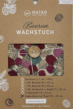 Beerenwachstuch m. Knopf, Brombeeren (XL 35x35)