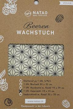 Beerenwachs Säckli Sterne weiss (23x25)