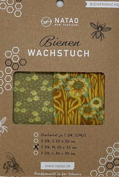 Bienenwachstuch Duopack Sonnenblume (M 25x25)