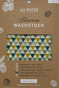 Beerenwachstuch Säckli, Dreieck (23x25)