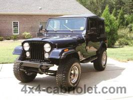 Bâche de Jeep CJ-7 (1976 à 1986)