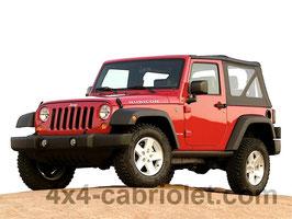 Bâche de Jeep Wrangler JK (2007 à 2018) version 2 portes