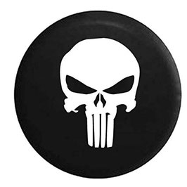 Couvre-roue avec logo Punisher