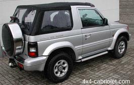Capote pour Mitsubishi Pajero cabriolet de 1991 à 1999