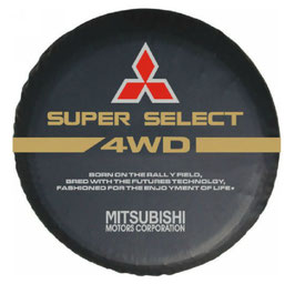 "Couvre-roue avec marquage ""Mitsubishi Super Select 4WD"""