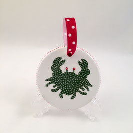 Crab Ornament - Round