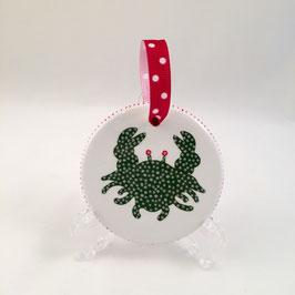 Crab Ornament - Round