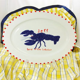 Blue Lobster Oval Dish