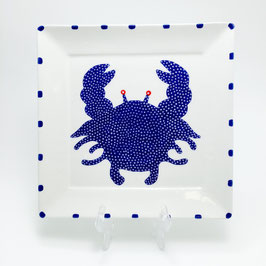 "Mystic Crab Square Plate - Medium (7.75"")"