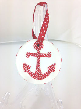Mystic Crab - Anchor Ornament - Round