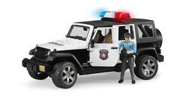 Jeep Wrangler Unlimited Rubicon Polizeifahrzeug mit Polizist und Ausstattung