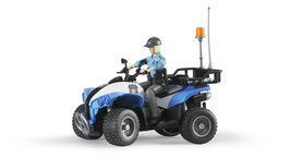 Polizei-Quad mit Polizistin und Ausstattung