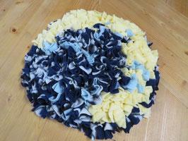 Schnüffelteppich gelb/blau 35cm Durchm.