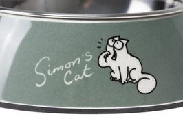 Simon´s Cat , Katzennapf L: 14cm B:14 cm H: 4,5 cm 160 ml grün