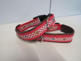 Trachtenhalsband rot/braun